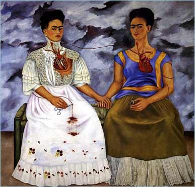 """""""Las dos Fridas"""", de Frida Kahlo."""
