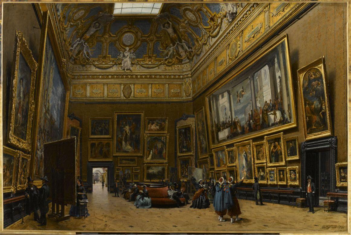 1502974 6 20a2 giuseppe castiglione le salon carre du for Louvre interieur